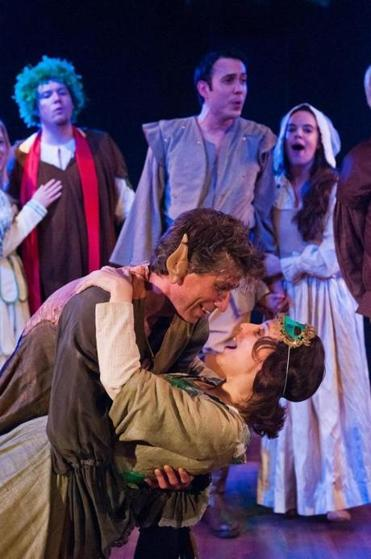 "Michael Forden Walker and Marianna Bassham in ""The Merry Wives of Windsor.''"